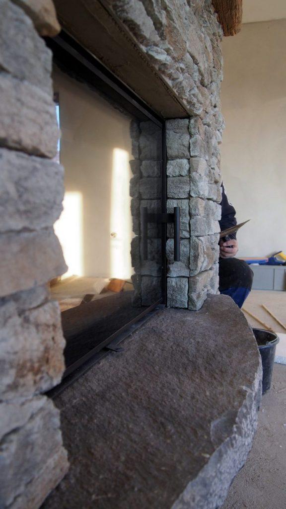Obklad krbu kamenom